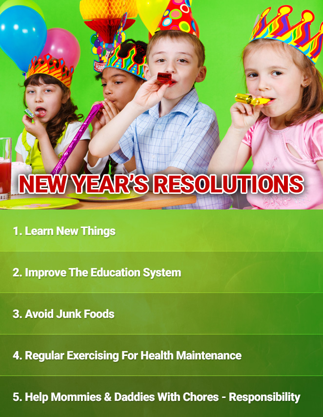 New Year Resolution 2018 For Kids